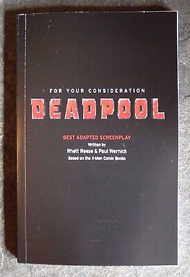 DEADPOOL For Your Consideration FYC Adapted Screenplay RARE promo Movie Script