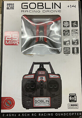 ✅ Pixie Racing Drone 2.4GHZ 4.5 CH RC racing Quadcopter 25mph, Open Box Red