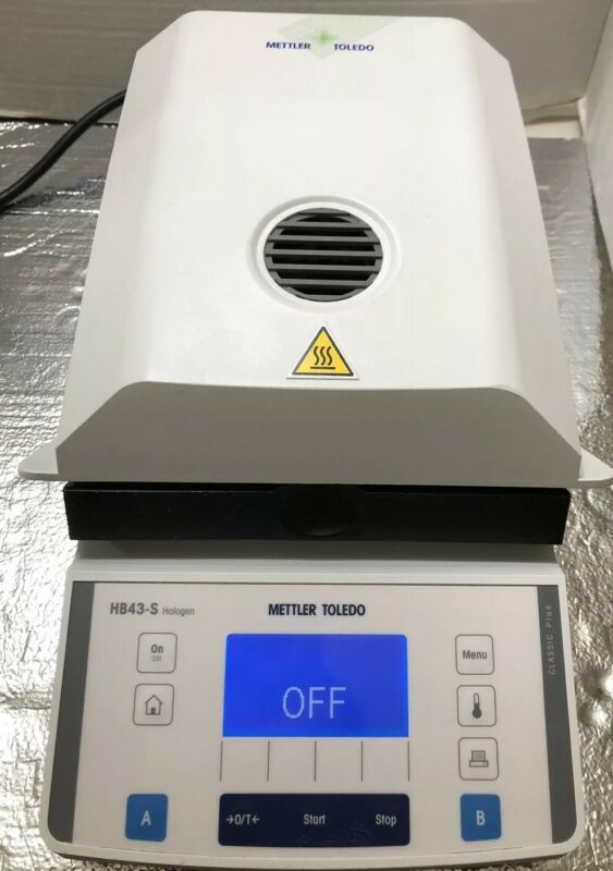 Mettler HB43-S Halogen Moisture Analyzer Scale 54g 0.001g Tested Worked Perfect