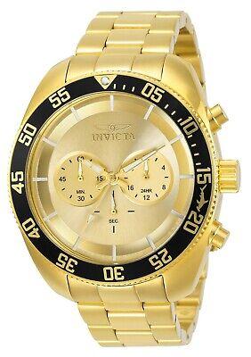 Invicta 30059 Pro Diver Men's 48mm Chronograph Gold-Tone Gold Dial Watch