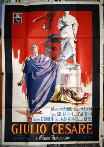 original italian 4sh movie poster JULIUS CAESAR Marlon Brando James Mason 1960