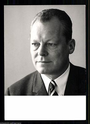 Willy Brandt Autogrammkarte 70er Jahre + 9870 OU