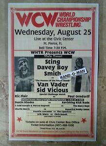Vintage WCW Poster Sting & Davey Boy Smith vs Van Vader & Sid Vicious