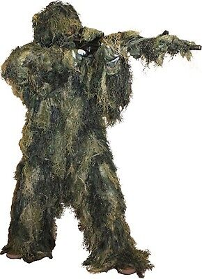 Ghillie Suit Woodland Camo Paintball 5 Piece Fire Retardant M/L use as Costume - Ghillie Suit Halloween Costume