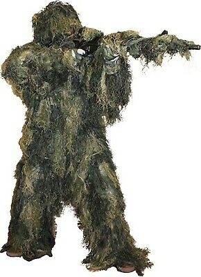 Ghillie Suit 5 Piece Woodland CamoPaintball Fire Retardant Xl/2xl Use as Costume - Ghillie Suit Halloween Costume