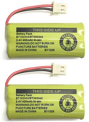 2 Original Battery Packs BT183342 / BT283342 for Vtech AT&T Home Cordless Phone