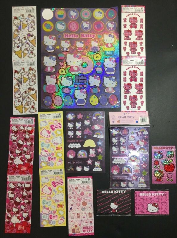 Sanrio Hello Kitty Sticker Lot With Japanese Exclusives