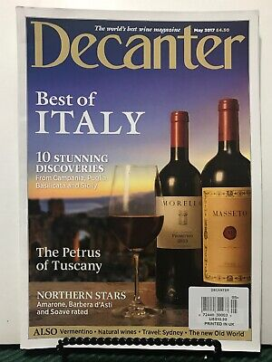 Decanter Best Of Italy Stunning Discoveries Tuscany UK May 2017 FREE SHIPPING