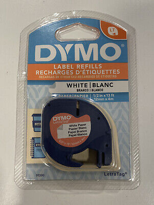 Dymo Letratag Labeling Tape For Letratag Label Makers Black Print On White 12