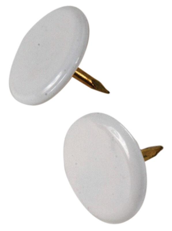 Hillman 532446, Thumb Tacks, White, 40-Pack