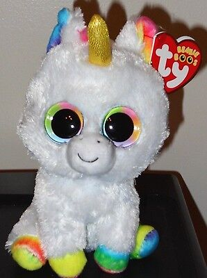 "Ty Beanie Boos ~ PIXY the 6"" Unicorn ~ Stuffed Toy ~ 2017 NEW ~ IN HAND"