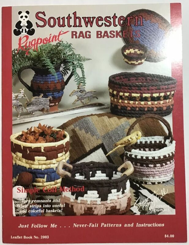 Southern Rag Baskets Rugpoint Simple Coil Method Suzanne McNeill Leaflet 2003
