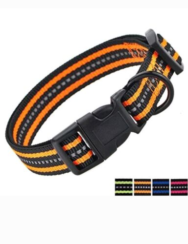 Mile High Life Night Reflective Double Bands Nylon Dog Colla