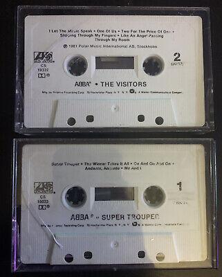 Vtg 80s Abba The Visitors / Super Trouper Cassette Tapes