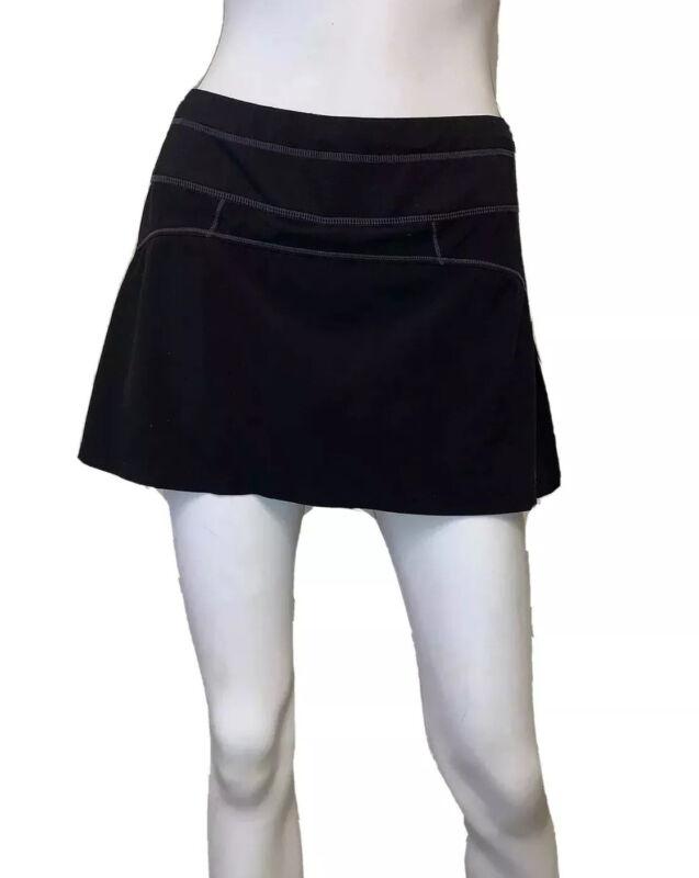 Athleta Size XS Black Runaround Skort Skirt Pleated Back