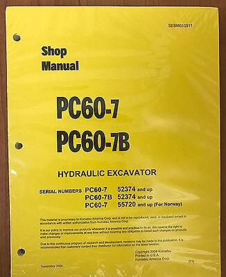 Komatsu Service Pc60-7 Pc60-7b Excavator Shop Manual Repair