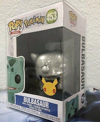 Funko Pokemon POP Bulbasaur Silver Metallic Vinyl Figure NEW