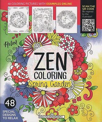 ZEN COLORING-Spring Garden-48 Ausmalbilder-Garten-Blumen-für pure Entspannung