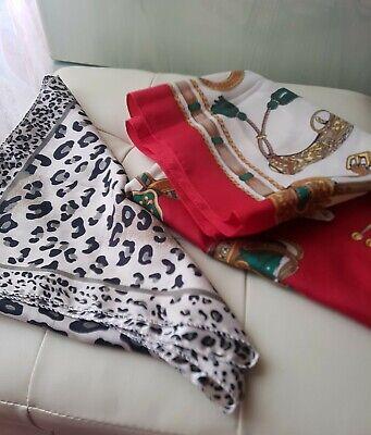 Coppia Foulard Donna maculato e rosso