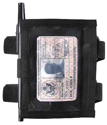 ID Holder Military Style Armband ID Holder Black Tactical Style Adjustable Strap