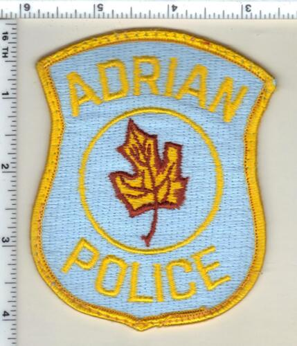 Adrian Police (Michigan) Uniform Take-Off Shoulder Patch from 1985