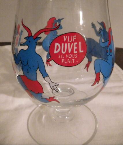 Duvel Limited Edition Piet Parra Belgium Beer Ale Glass Stemmed Tulip RARE Devil