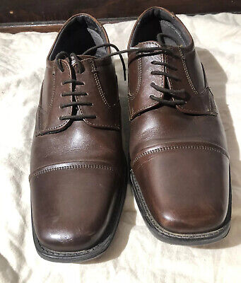 ALFANI Mens Dress Shoes - Cape Cap Toe Lace-up Brown Leather Oxfords Size 9 M