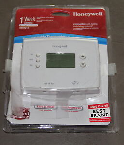 Honeywell Digital Programmable Thermostat, RTH221B, New open package