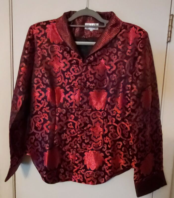 LAOGUDAI SILKY ORIENTAL FITTED DRESSY   JACKET /XXXL...Made in China..Vintage