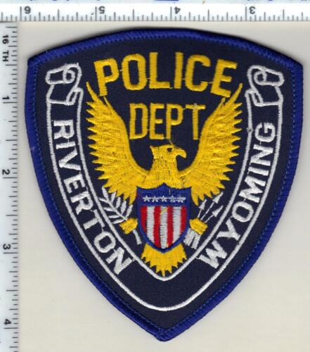 Riverton Police (Wyoming) 3rd Issue Shoulder Patch from 1989