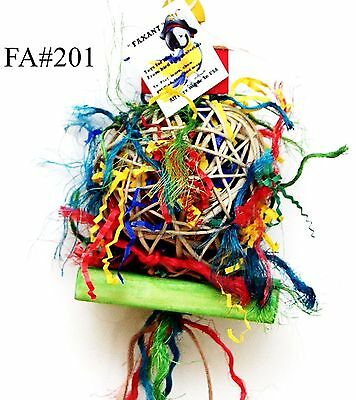Fire Ball Shreddable bird parrot cage toy conure small cockatoo senegal -