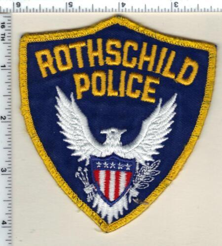 Rothschild Police (Wisconsin) 1st Issue Uniform Take-Off Shoulder Patch 1994