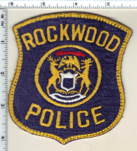 Rockwood Police (Michigan) Uniform Take-Off Shoulder Patch from the 1980