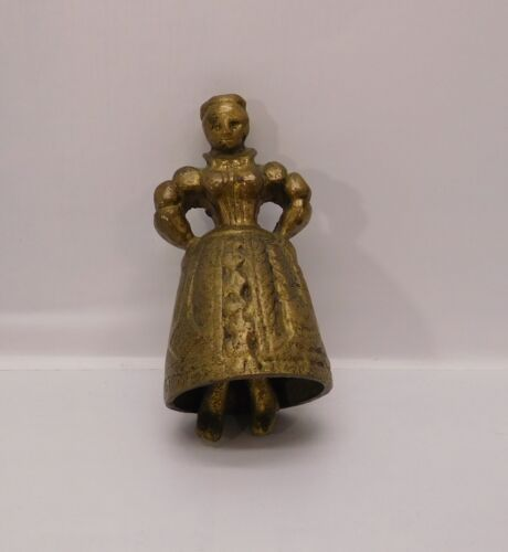 Brass Woman with Feet as Bell Vintage