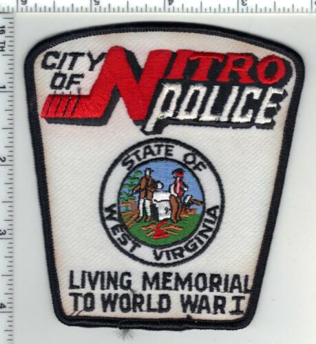 Nitro Police (West Virginia) 2nd Issue  Shoulder Patch - White Version