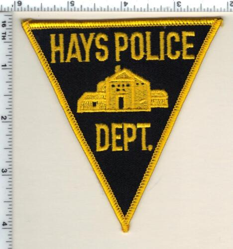 Hays Police (Kansas) Shoulder Patch - new from 1990