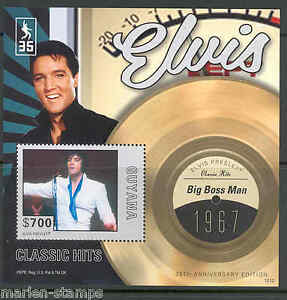 GUYANA-NEW-ISSUE-ELVIS-PRESLEY-BIG-BOSS-MAN-RECORD-S-S-never-before-offered