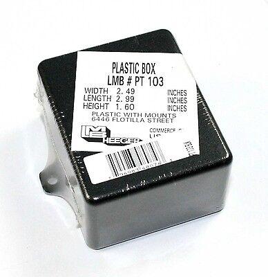 Black Plastic Project Box With Tabs 2.5 X 1.6 X 3 Pt103