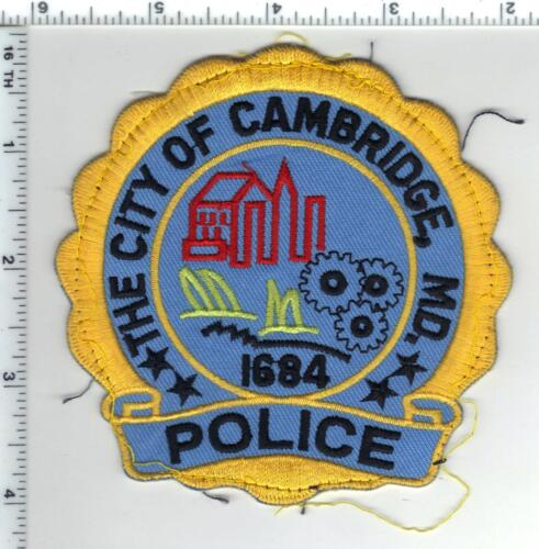 Cambridge Police (Maryland) uniform take-off shoulder patch from the 1980