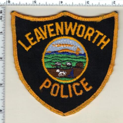 Leavenworth Police (Kansas) uniform take-off patch from 1990