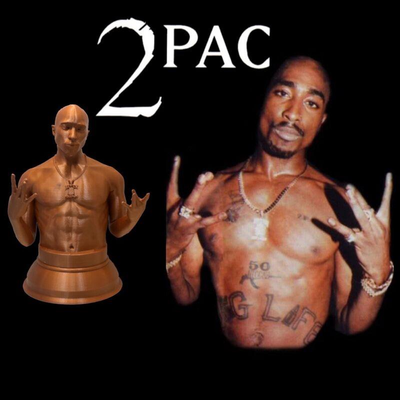 3D Printed 2pac Statue Tupac Shakur Bust