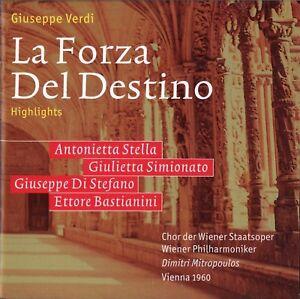Verdi - La Forza Del Destino (Highlights); Stella; Di Stefano; Mitropoulos, 1960