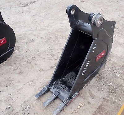 Heavy Duty Bucker For Backhoe Cat 416 And Similar - 12 Inches