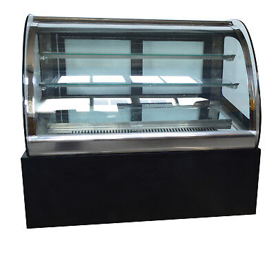 35.4countertop Refrigerated Cake Showcase Curved Bakery Display Cabinet 220v