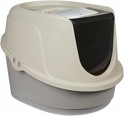 Cat Litter Box Enclosed Pan Hooded Jumbo Giant Covered Kitty House Large ()