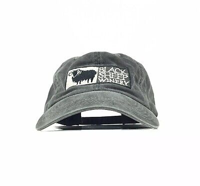 Black Sheep Winery Embroidered Charcoal Gray Baseball Cap Hat Adj. Men's Size](Sheep Hat)