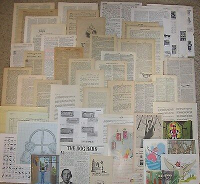 275 Vtg Book Page Craft Lot~Scrapbook,Collage Art,Junk Journal Paper,Sheet Music