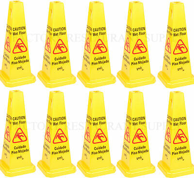 10 Pack Commercial Caution Wet Floor Yellow Cone 27 Free Shipping Us Only 48