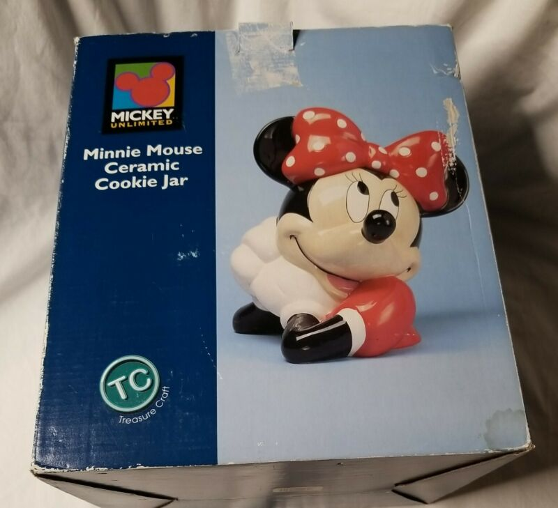 Mickey Unlimited Treasure Craft Minnie Mouse Cookie Jar With Original Box