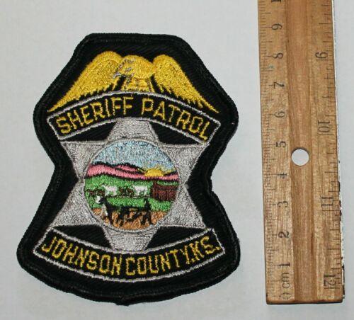 JOHNSON COUNTY SHERIFF PATROL Kansas KS Co SD SO Used Worn patch
